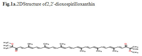 Fig.1a.2DStructure of2,2'-dioxospirilloxanthin
