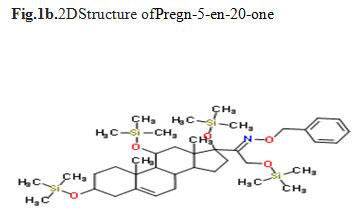 Fig.1b.2DStructure ofPregn-5-en-20-one