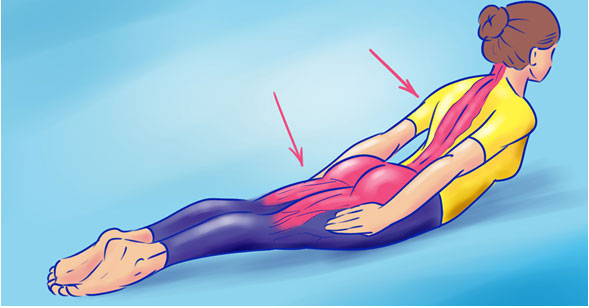 Figure 1. Doing a stretching exercise to help optimize posture