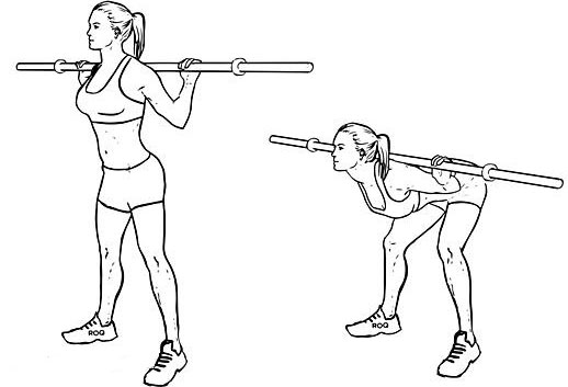 Figure 2. An example of exercises to improve posture with a gymnastic stick