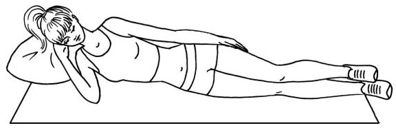 Figure 3. Performing breathing exercises on the side