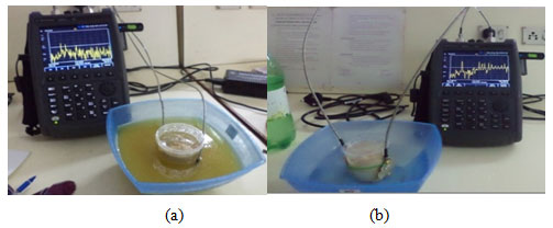Figure 2 proposed prototypes impressed in coupling materials a) higher & b) conductive medium