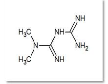 Fig: 1 Structure of Metformin.