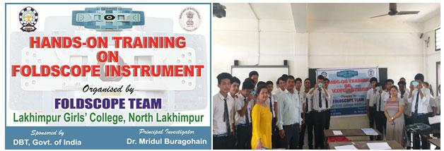 Fig.3a: Workshop on handling of foldscope in Asian Public School, North Lakhimpur