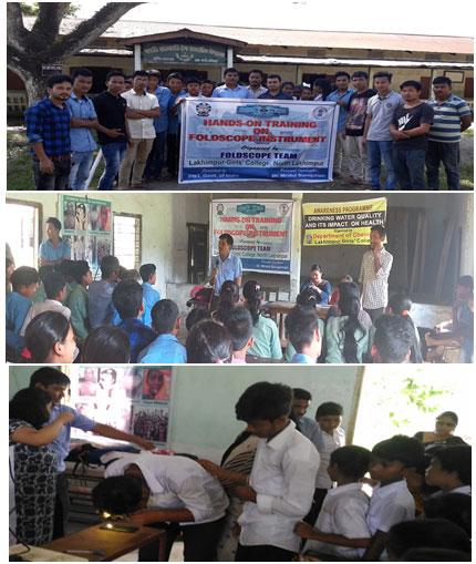 Fig.3d: Workshop on handling of foldscope in Bodoti Jamuguri Janajati High School, Bihpuria